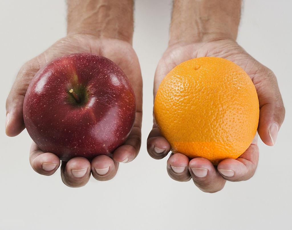 سیب و پرتغال و قوانین یادگیری